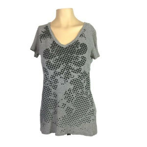 Converse One Star Graphic Tee Gray Short Sleeve  S